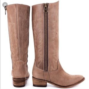 "steve madden ""grace"" tan western style riding boot"